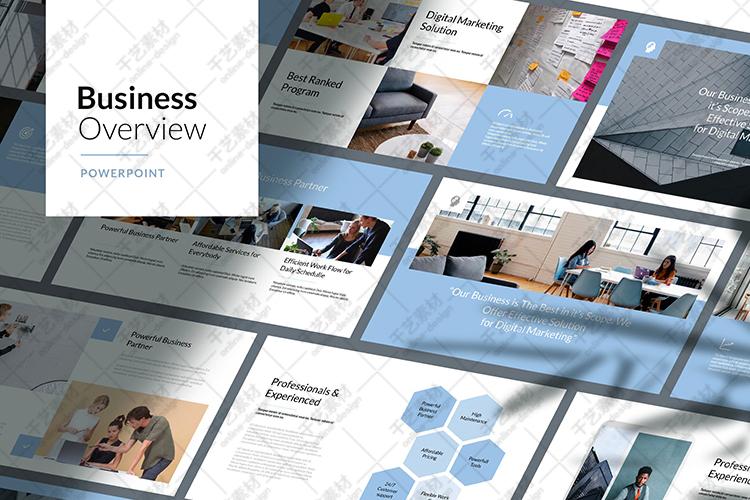 蓝色ppt模板团队教学公司介绍商业计划书数据图表插图(4)