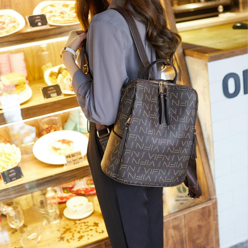 真皮双肩包女2020年新款韩版百搭时尚潮流大容量牛皮女士背包皮质