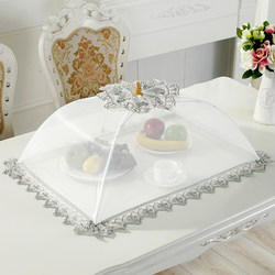 Rectangular Dish Cover Foldable Meal Cover White Food Cover Dish Cover Dining Table Cover Leftovers Cover Large Round