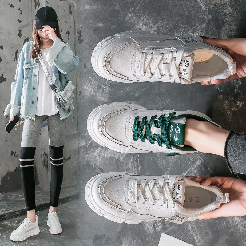 春季百搭厚底运动跑步板鞋女鞋