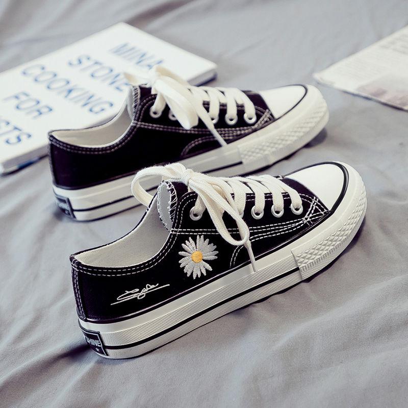 旧传(服饰)2020新款小白帆布女鞋板鞋韩版春季百搭学生休闲布鞋