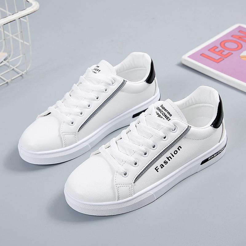 2020春季新款鞋子女學生小白鞋女韓版百搭休閑鞋女反光夜光鞋潮流