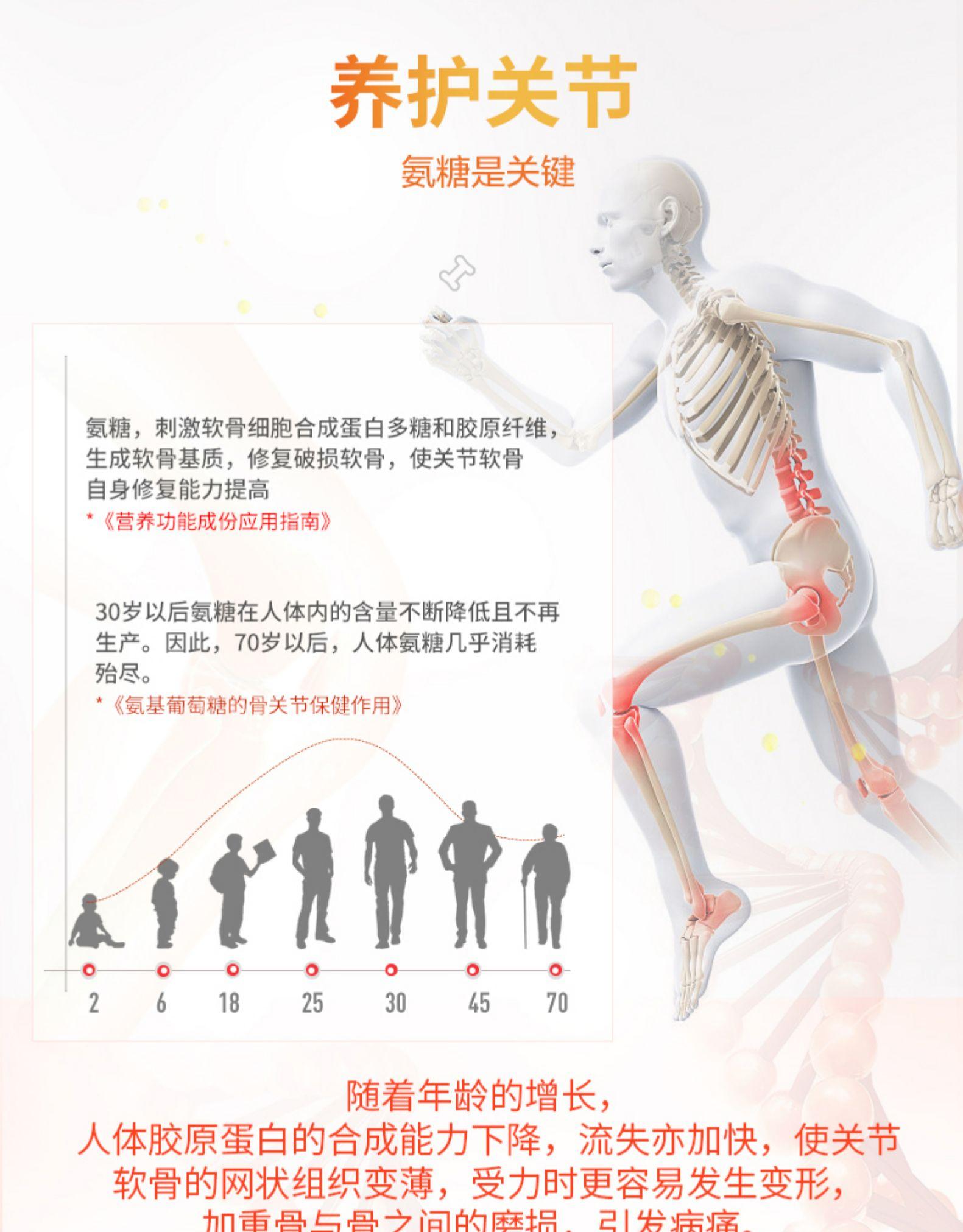 朗迪 氨糖软骨素 碳酸钙维生素D3钙片 关节润滑养护 40片 图3