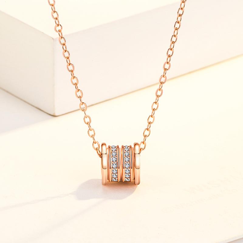【925纯银】小蛮腰钻石项链*礼盒装