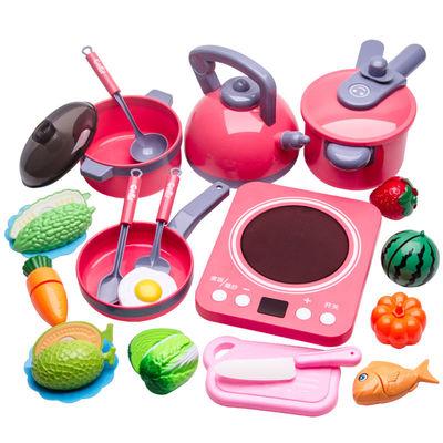 儿童过家家厨房玩具套装女孩做饭炒菜宝宝煮饭锅玩具男孩仿真厨具
