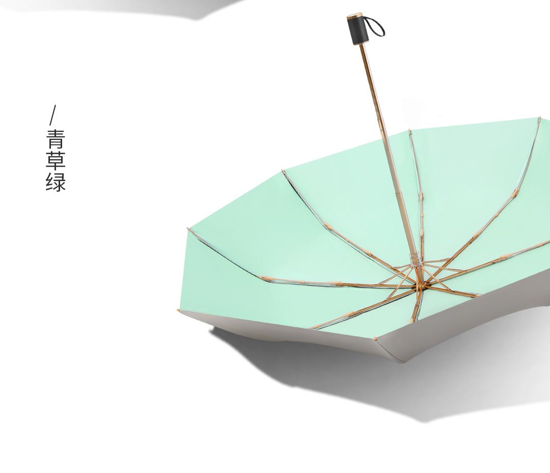 雨傘雙層鈦銀黑膠雨傘女晴雨兩用防曬折疊遮陽便攜折疊加厚太陽遮陽傘雨衣