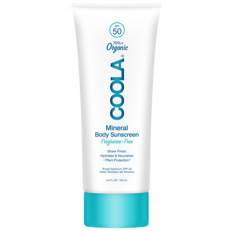 coola有机身体物理防晒霜无味100ML防紫外线隔离室外防晒SPF50