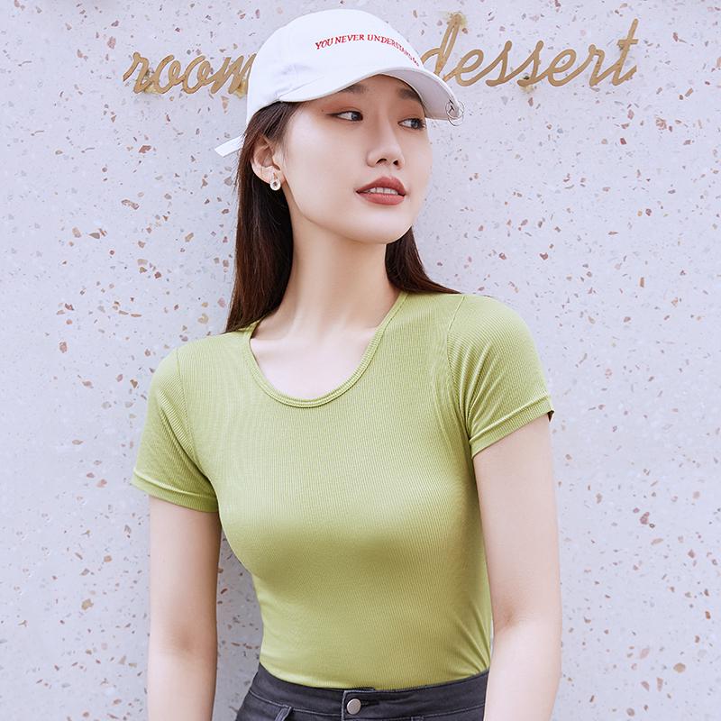 【百人验货】韩版修身百搭短袖