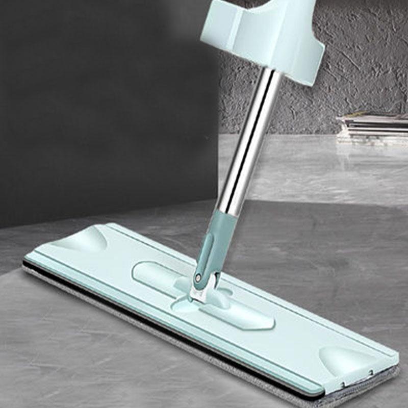 [大号带刮条]免手洗懒人拖把家用干湿两用吸水拖布平板神器加粗杆
