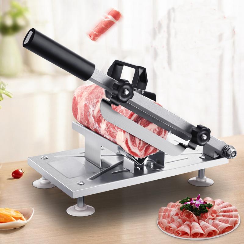 羊肉卷切片机家用切肉机手动切冷冻牛肉年糕肥牛刀土豆刨肉机神器