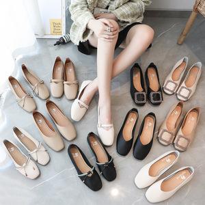 【甄际】夏季女士休闲单鞋时尚平底鞋豆豆鞋