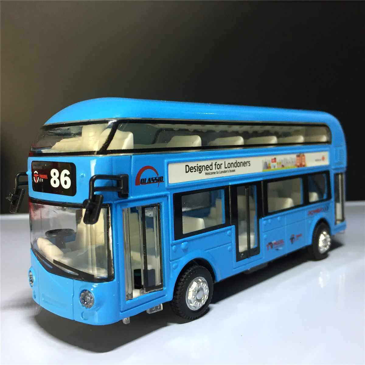 仿真旅游双层合金回力巴士声光单层公交车儿童玩具汽车模型包邮