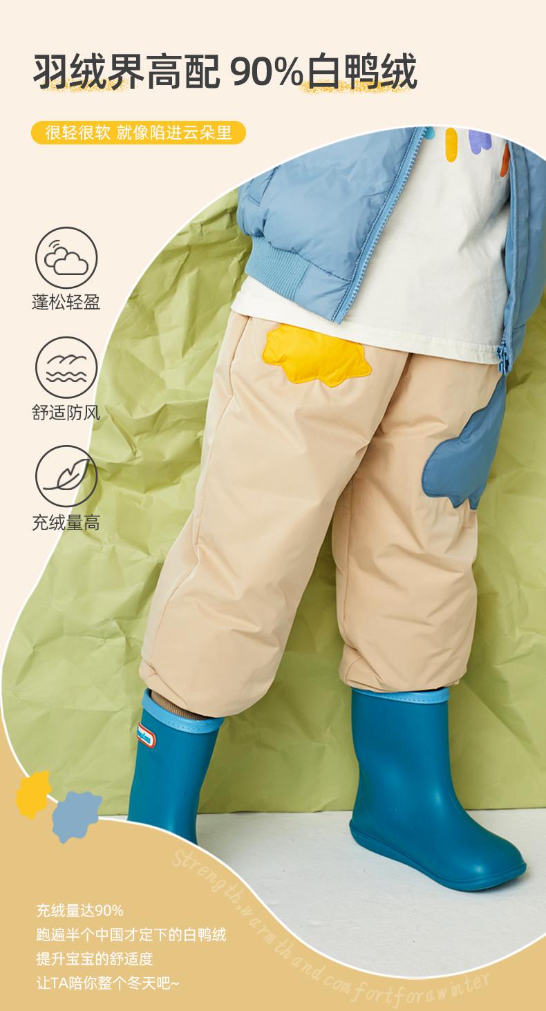 Mini PEPCO 小猪班纳 A类安全等级 21年秋季款 加厚儿童羽绒裤 天猫优惠券折后¥118包邮(¥168-50)男、女童90~140码多色可选
