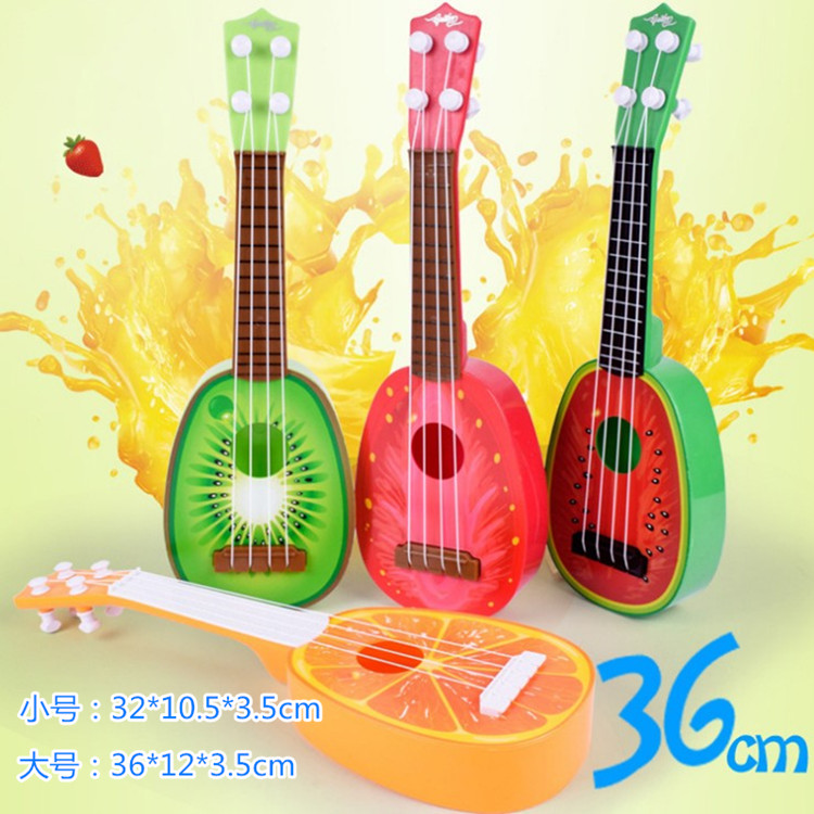 Children's new simulation fruit guitar can play ukulele toy baby gift stringed enlightenment instrument