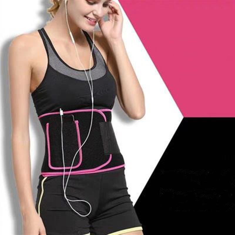 爆汗束腰带收腹减肥燃脂健身多功能护腰带