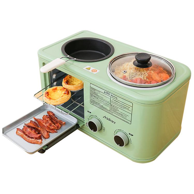 西德瑞多士炉家用早餐机多功能四合一烤面包机