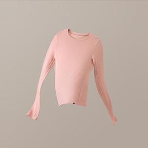 蕉下摇粒绒针织打底衫女长袖内搭针织衫毛衣2020新款秋冬秋装短款