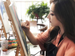 20CM20CM zero-based oil painting experience in Xi'an