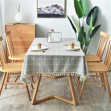 桌布防水防油免洗北欧ins风餐桌布茶几TPU格子日式棉麻布艺小清新