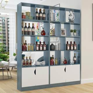 Nordic entrance porch cabinet modern simple living room double side partition shoe cabinet room screen decoration shelf wine cabinet