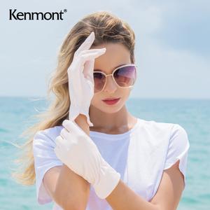卡蒙骑电动车冰丝防晒手套女夏季薄款开车防紫外线透气短款手套