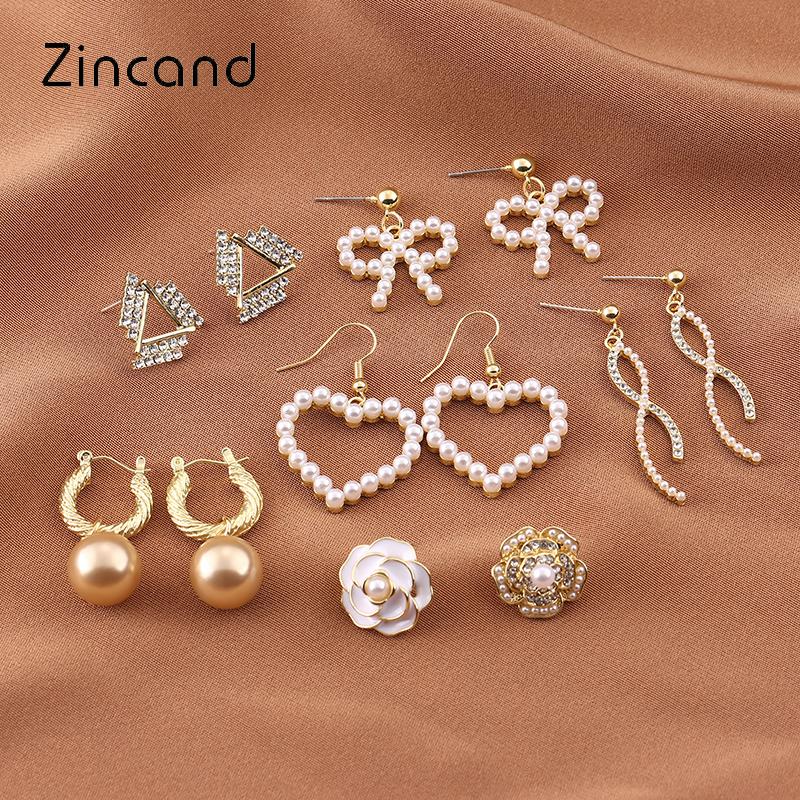 Zincand原创设计S925银针金属风珍珠耳环女法式复古风防过敏耳钉