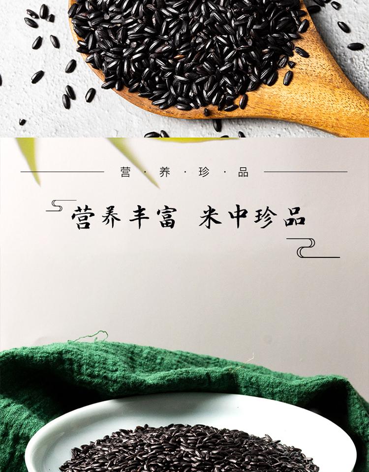 【拍2件】精选五常黑米新米黑香米500g