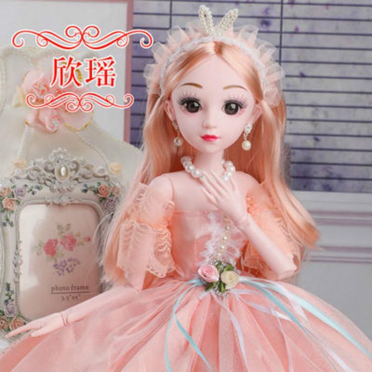 60厘米超大』号芭比娃娃女童玩具套装女孩单个60CM公主洋娃娃布娃娃