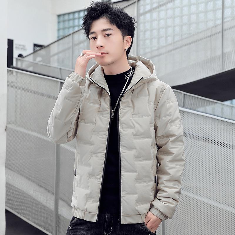 冬季棉衣男2020韩版潮流连帽外套时尚百搭休闲羽绒棉服男保暖棉袄