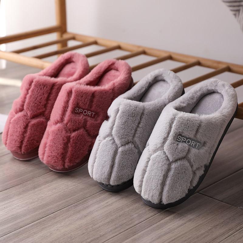 冬季情侣棉拖鞋女家居家室内拖鞋冬天防滑厚底鞋孕妇月子毛毛拖男