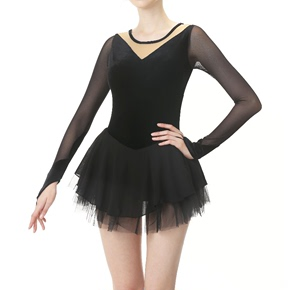 custom size figure skating dress for girls women Customized figure skating show dress girls skating suit children adult competition examination skirt black swan series