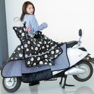 电瓶摩托车挡风罩防雨冬季加绒加厚挡风被保暖防水防寒小型防风罩