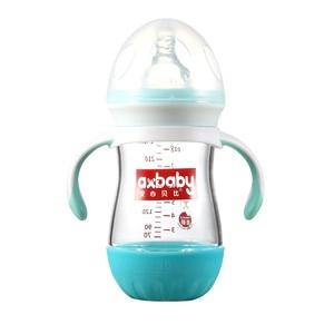 新生婴儿玻璃奶瓶感温防摔