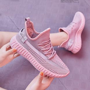 夏秋季女鞋飞织运动休闲板鞋星网面鞋