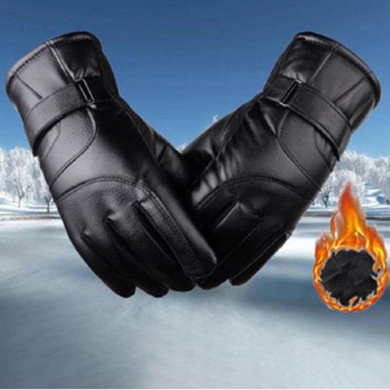 皮手套触屏冬季男女手套摩托骑行加绒加厚