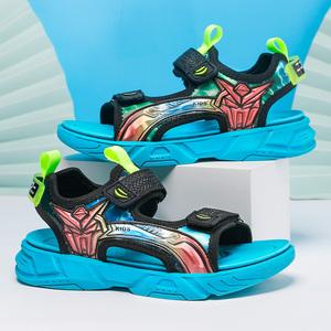 夏季新款防滑软底中大童沙滩男凉鞋