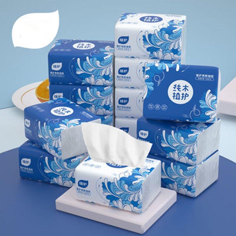 植护40包/10包4层原木纸巾抽纸整箱餐巾纸家用面巾卫生纸