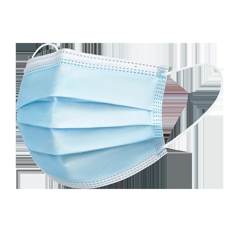厂家直销一次性医疗口罩三层熔喷100只