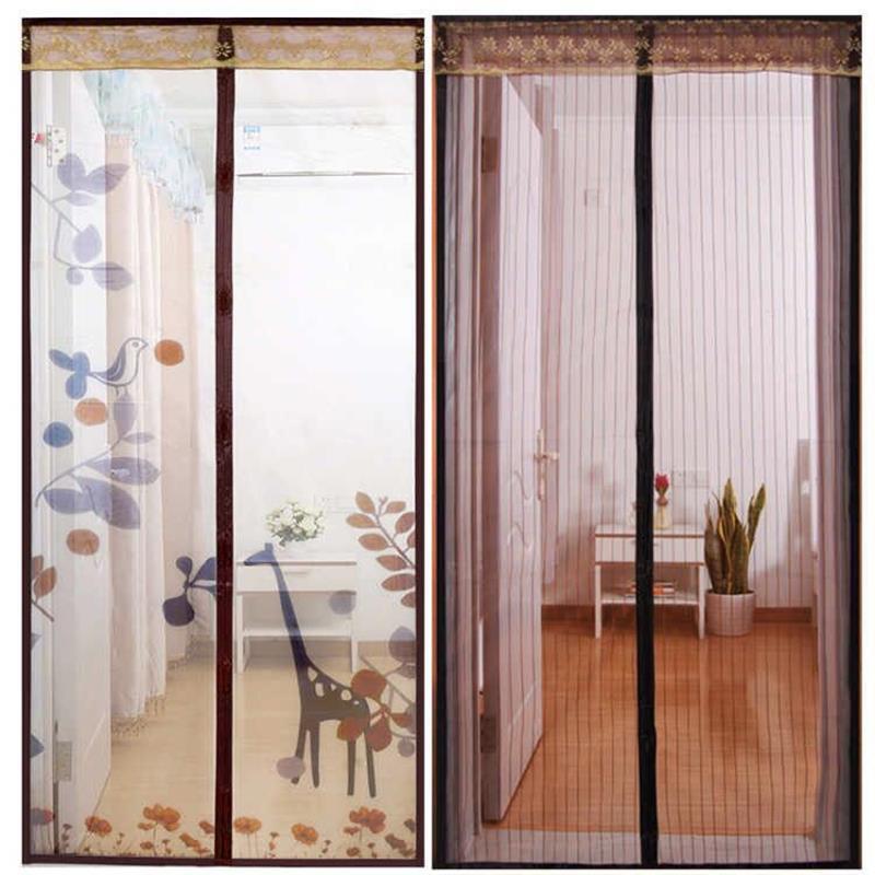 门帘家用防蚊魔术贴加密夏季磁性纱门免打孔