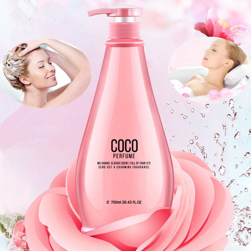 正品coco洗发水护发素沐浴露套装300ml/750ml去屑控油洗发露
