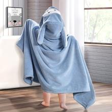 婴儿浴巾带帽吸水洗澡浴袍斗篷秋冬可穿式