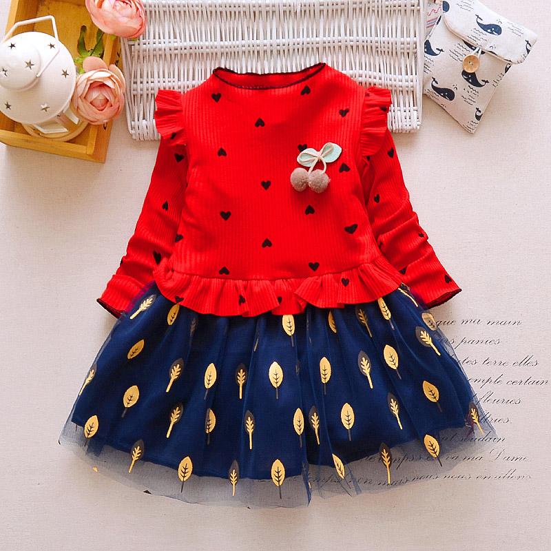女童连衣裙秋季童装纱裙长袖公主裙儿童裙子
