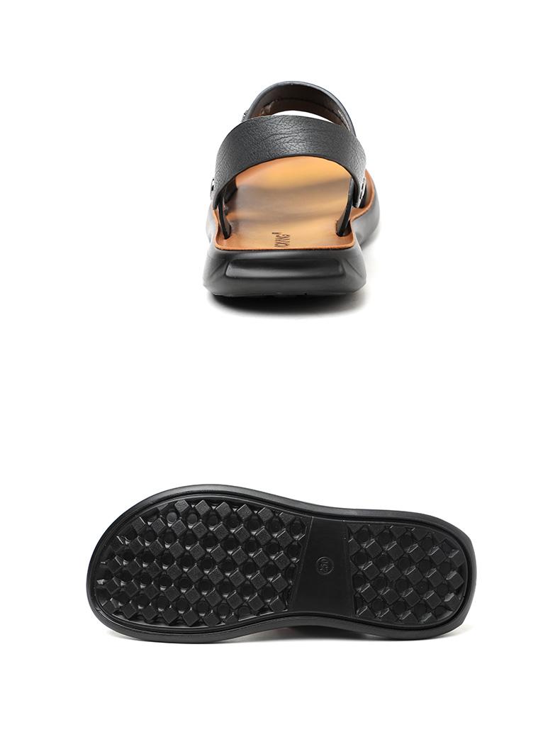 奥康 男士 沙滩凉鞋 头层牛皮鞋面 图10