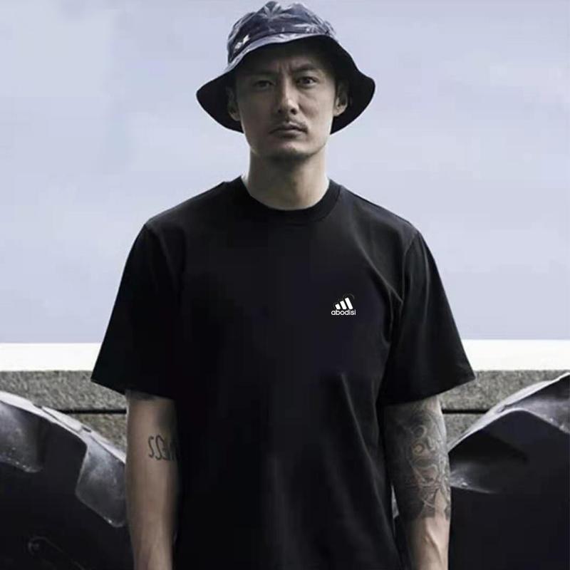 潮牌短袖男T恤体恤速干半袖夏季运动跑步健身羽毛球篮球男款001