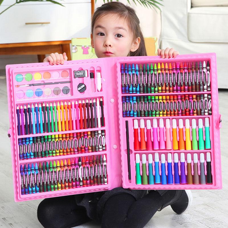 儿童水彩笔绘画套装礼盒画笔