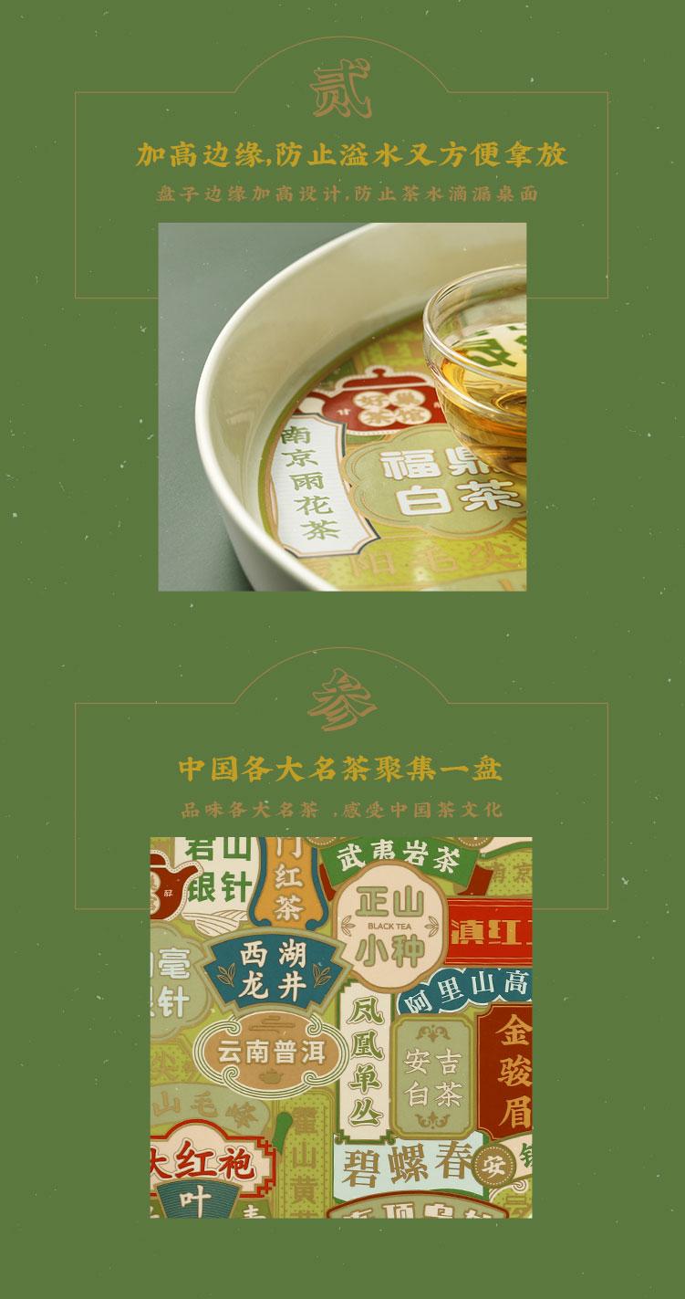 Good nest the tide retro signs tea tray tray was creative household ceramics Hong Kong style round dish dish dish
