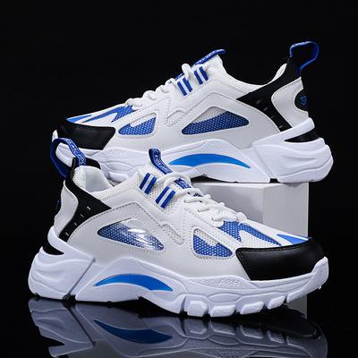男鞋春季2021年新款潮鞋老爹韩版潮流青少年运动休闲百搭小白板鞋