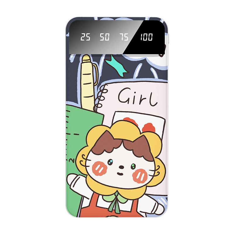 金铂充电宝超薄小巧便携轻薄100000M手机专用可爱女mini迷你款20000毫安移动电源快冲适用于苹果oppo华为vivo