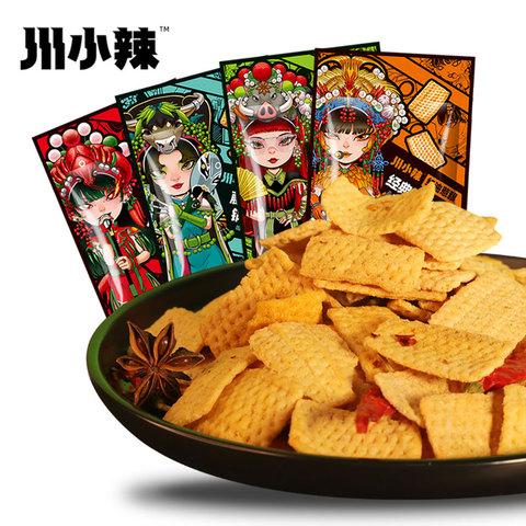 川小辣网红吃货零食川味辣锅巴小吃办公室休闲膨化食品