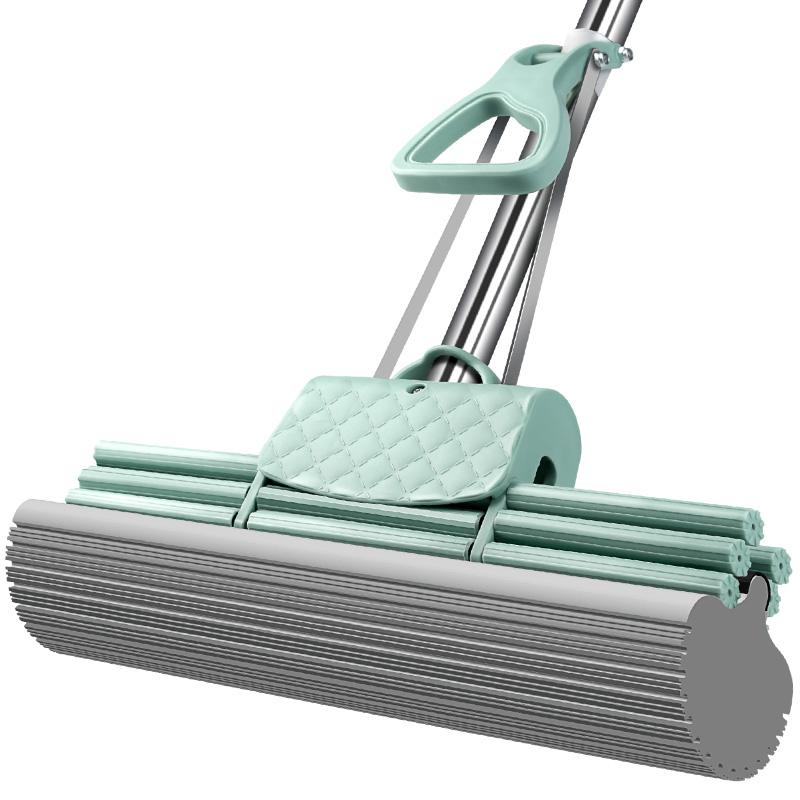 好太太吸水拖把家用海绵拖把免手洗拖布胶棉